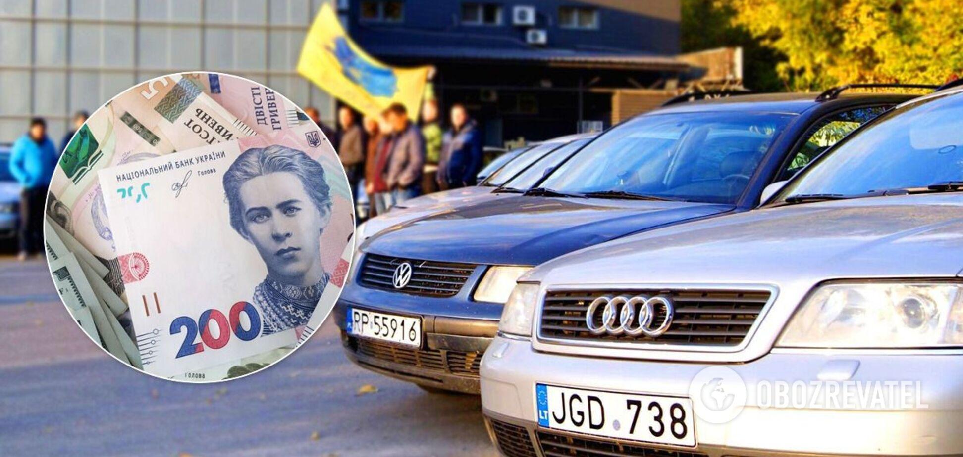 За євробляхи в Україні штрафують на 34 тис. грн